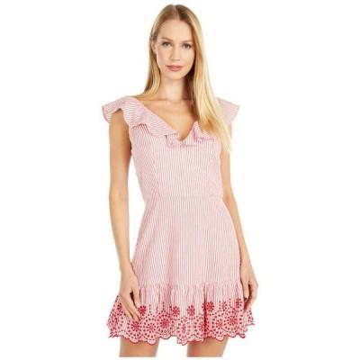 BCBジェネレーション レディース ワンピース トップス Embroidered Ruffle Dress - TSS6278147