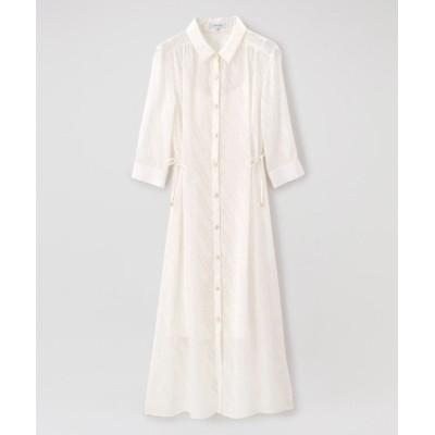 【ラブレス】 はっ水シアーシャツドレス レディース ホワイト 36 LOVELESS