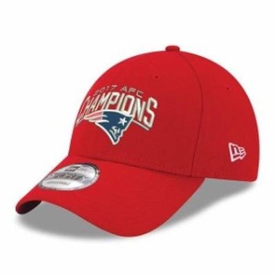 New Era ニュー エラ スポーツ用品  New Era New England Patriots Womens Red 2017 AFC Champions 9FORTY Adjustable Hat