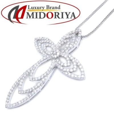 ダイヤモンドネックレス K18WG ダイヤモンド2.80ct 18金ホワイトゴールド レディース ジュエリー /73416 【中古】