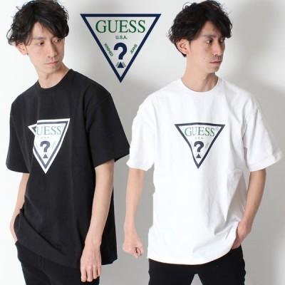 GUESS GREEN LABEL TRIANGLE LOGO TEE ゲス グリーンレーベル トライアングル ロゴ Tシャツ GRFW17-001 メンズ tシャツ 半袖