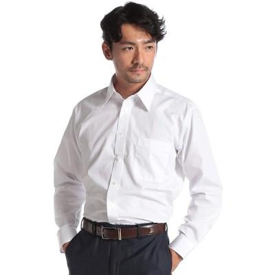YUKIKO HANAI(ユキコハナイ) 形態安定 マイクロポリエステル 長袖 ワイシャツ 42-82 ホワイト