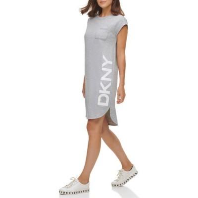 ダナ キャラン ニューヨーク レディース ワンピース トップス Short Sleeve Logo Pocket Dress