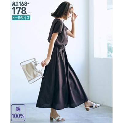 トールサイズ 綿100%マキシワンピース 【高身長・長身】ロング・マキシワンピース, tall  size, Dress