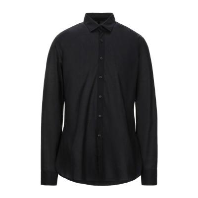 ランバン LANVIN シャツ ブラック 44 コットン 100% シャツ