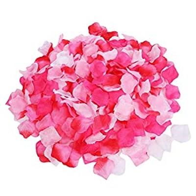 kikipa (kk-044)フラワーシャワー 造花 花びら 飾り付け セット ウエディング パーティー 結婚式 誕生会 二次会 (ピンク系5色, お得1200枚)