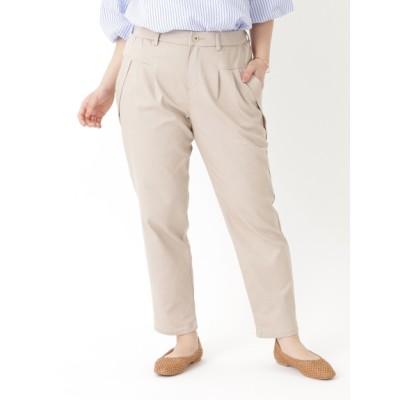 【大きいサイズ】【LL-4L】おなかすっきり切り替え美脚パンツ 大きいサイズ レディース 大きいサイズ パンツ レディース