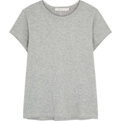 ラグ&ボーン rag & bone レディース Tシャツ トップス The Tee Grey Cotton T-Shirt Grey