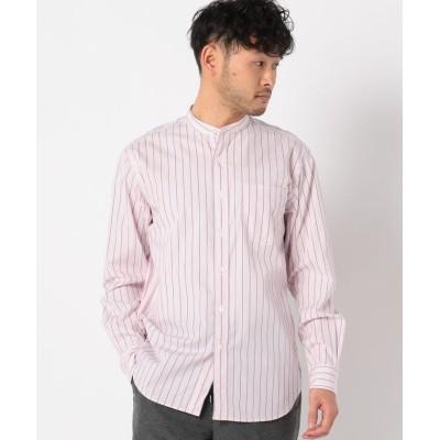 (NOLLEY'S goodman/ノーリーズグッドマン)ブロード バンドカラーシャツ/メンズ レッド・ピンク系3