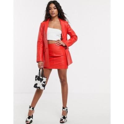 エイソス レディース スカート ボトムス ASOS DESIGN premium leather mini skirt