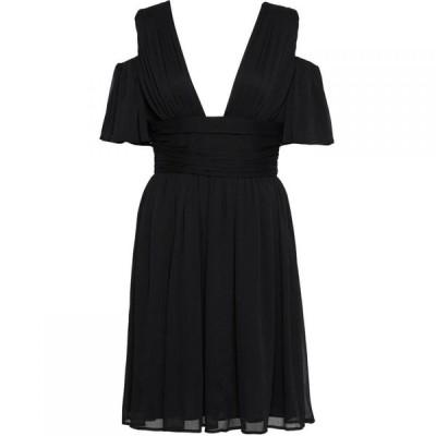 フレンチコネクション French Connection レディース ワンピース ミドル丈 ワンピース・ドレス Constance Draped Cold Shoulder Midi Dress Black