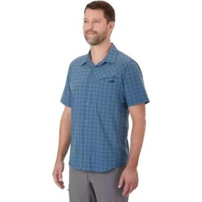 アウトドアリサーチ メンズ シャツ トップス Astroman Shirt - Short-Sleeve Peak Blue