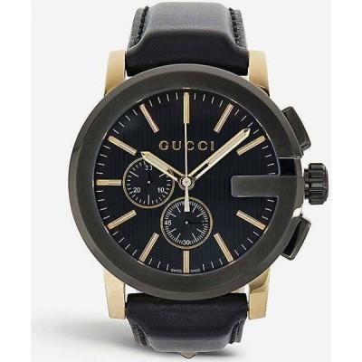 グッチ GUCCI レディース 腕時計 クロノグラフ Ya101203 G Chrono Collection Pvd And Leather Watch BLACK