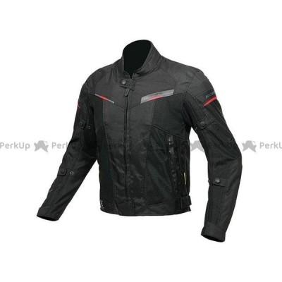 【無料雑誌付き】コミネ JK-141 プロテクトハーフメッシュジャケット(ブラック/レッド) サイズ:M KOMINE