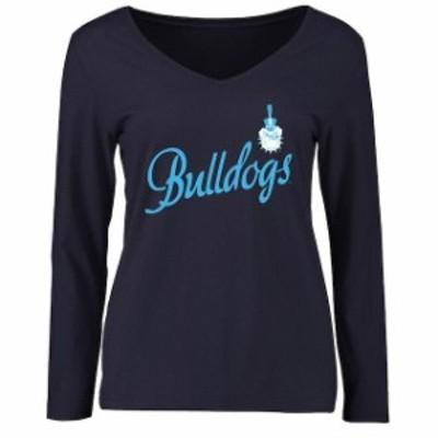 Fanatics Branded ファナティクス ブランド スポーツ用品  Citadel Bulldogs Womens Navy Dora Long Sleeve T-Shirt