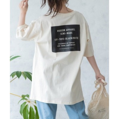 tシャツ Tシャツ BACKプリントオーバーサイズコットンTシャツ