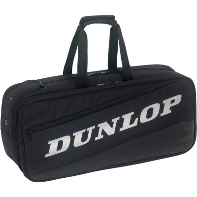 DUNLOP ダンロップテニス ラケットバッグ テニスラケット2本収納可  DTC−2185 DTC2185 ブラックシルバー
