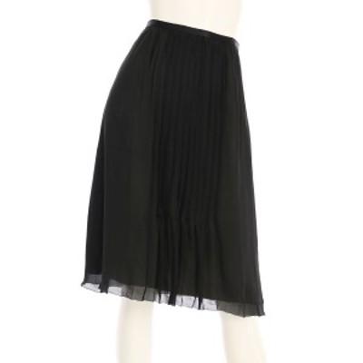 ボールジー BALLSEY スカート サイズM レディース 美品 ブラック系 フレアスカート 表地 裏地:シルク100%【中古】20201013
