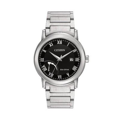 シチズン AW7020-51E 逆輸入 エコドライブ パワーリザーブ ウォッチ ブラック メンズ 腕時計 CITIZEN