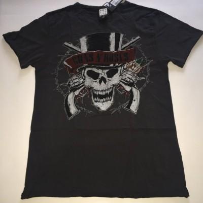 アンプリファイド ガンズアンドローゼズ デスヘッド ロックTシャツ Amplified Guns N Roses Deaths Head Men's T-Shirt