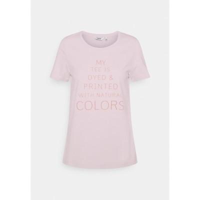 ビーヤング Tシャツ レディース トップス BYPLANET - Print T-shirt - hibiscus