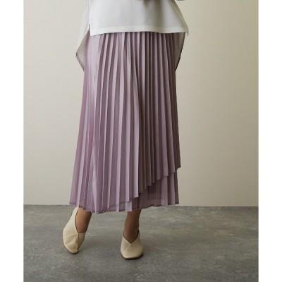 スカート 【FLEUR DE KALINA/フレール ドゥ カリーナ】 シレー加工プリーツロングスカート