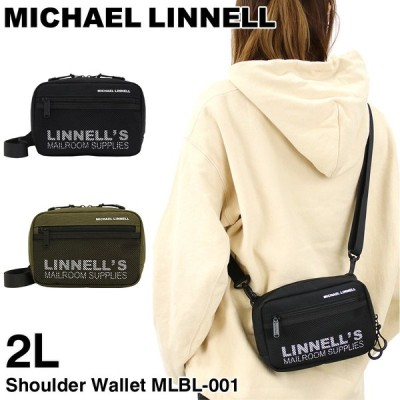MICHAEL LINNELL(マイケルリンネル) ショルダーウォレット ミニショルダーバッグ 斜め掛けバッグ 2L 軽量 正規品 メンズ レディース MLBL-001