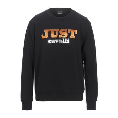 ジャストカヴァリ JUST CAVALLI スウェットシャツ ブラック 3XL コットン 100% スウェットシャツ