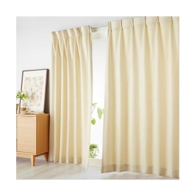 【1cm単位オーダー】ざっくりとした素材感のナチュラル無地カーテン(1枚) ドレープカーテン(遮光あり・なし) Curtains, blackout curtains, thermal curtains, Drape(ニッセン、nissen)