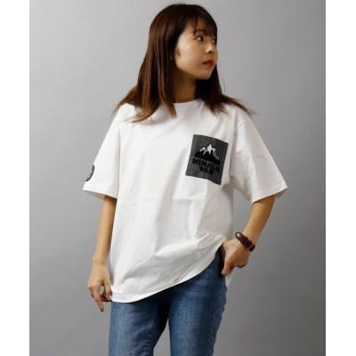 tシャツ Tシャツ 【HIMALAYAN CLIMBER'S HAND-KNIT】手刺繍ポケット半袖Tシャツ ポケT
