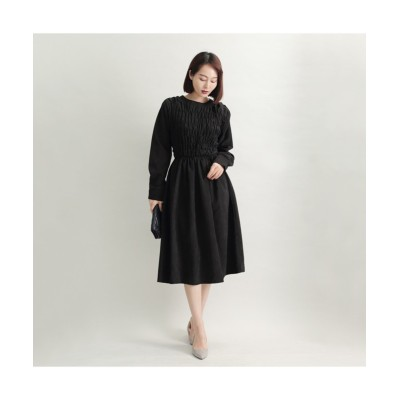 MARTHA(マーサ) シャーリングボディワンピース (ワンピース)Dress