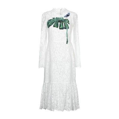 ドルチェ & ガッバーナ DOLCE & GABBANA 7分丈ワンピース・ドレス ホワイト 40 コットン 46% / レーヨン 43% / ナイ