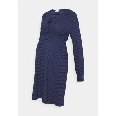 ママリシャス ワンピース レディース トップス TESS DRESS - Jersey dress - blue ribbon/black