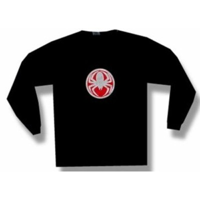 ファッション トップス Cold-Spider Medallion-Longsleeve-Black T-shirt