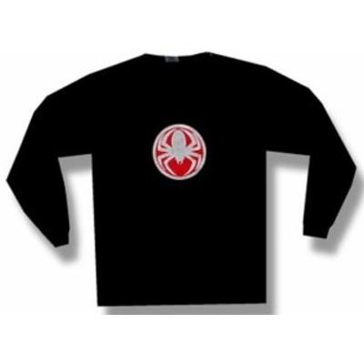 ファッション トップス Cold-Spider Medallion-Longsleeve-Black T-shirt