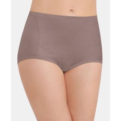 バニティフェア Vanity Fair レディース ショーツのみ Smoothing Comfort with Lace Brief Underwear 13262, also available in extended sizes
