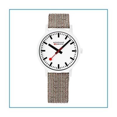 新品Mondaine Essence Quartz White Dial Brown Textile Strap Watch MS1.41110.LG【並行輸入品】