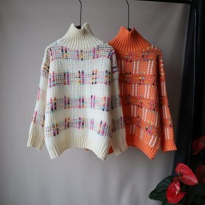 セーター レディース プルオーバー タートルネック 秋 冬 温かい 長袖 おしゃれ カジュアル インナーセーター 保温 ニットセーター ゆったり