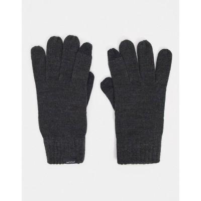 フレンチコネクション メンズ 手袋 アクセサリー French Connection touch screen gloves in charcoal Charcoal mel