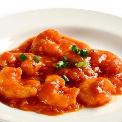 【冷凍惣菜】海老のチリソース 150g  一人前 湯煎 おかず 冷凍 | 聘珍樓 聘珍楼 中華料理 惣菜 中華惣菜 お取り寄せ