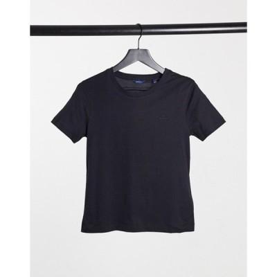 ガント レディース シャツ トップス GANT crew neck t-shirt in navy