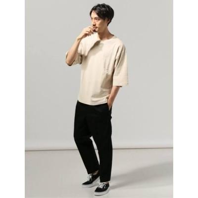 JOURNAL STANDARD[メンズ] (ジャーナルスタンダード) 40/2キョウネン クルーネック エルボースリーブ Tシャツ ベージュ S