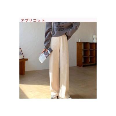 【送料無料】レトロ 着やせ 縦 ハング条 紋 カジュアルパンツ 女 冬 韓国 | 346770_A64142-9748166