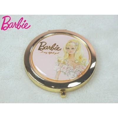 バービー baebie  コンパクトミラー ピンク 鏡 拡大鏡 等倍鏡 丸型  女性 お祝い 贈り物 ギフト インテリア 姫系 薔薇系雑貨