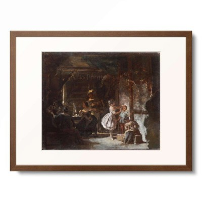 カール・シュピッツヴェーク Carl Spitzweg 「Hinter den Kulissen, 1855/60.」
