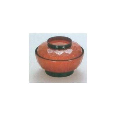 越前漆器 漆遊館 歳時記 【G4083-10】 春慶 55亀甲煮物椀 5個セット ボール箱 φ16.5×11.3cm