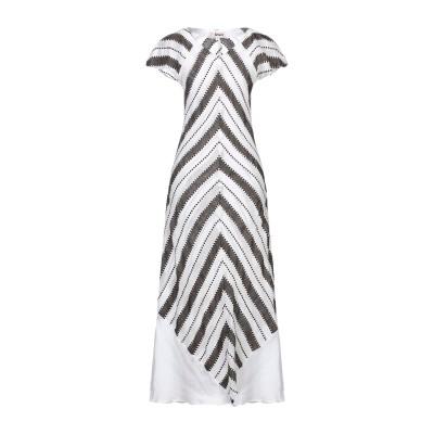 レムレム LEMLEM ロングワンピース&ドレス ホワイト S コットン 75% / レーヨン 25% ロングワンピース&ドレス