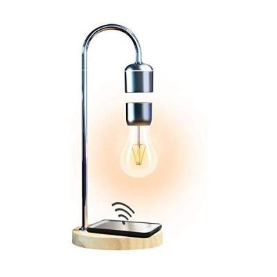 新品Levitating Floating Light Bulb with Wireless Charger, Magnetic Wireless Light Bulb, Cool Desk Lamp, Unique Gifts, Home Office Decor (B