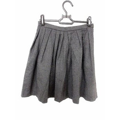 【中古】モガ MOGA スカート ギャザー ひざ丈 2 グレー /AKK5 レディース