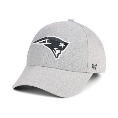 47ブランド メンズ 帽子 アクセサリー New England Patriots Heathered Black White MVP Adjustable Cap
